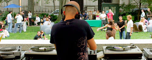Ulysses DJing at Cooper-Hewitt Design Museum, Summer 2006